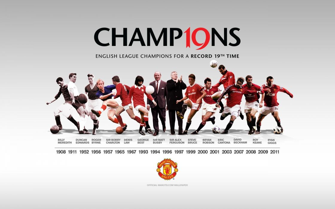 Manchester United - Champion 19 league titles wallpaper