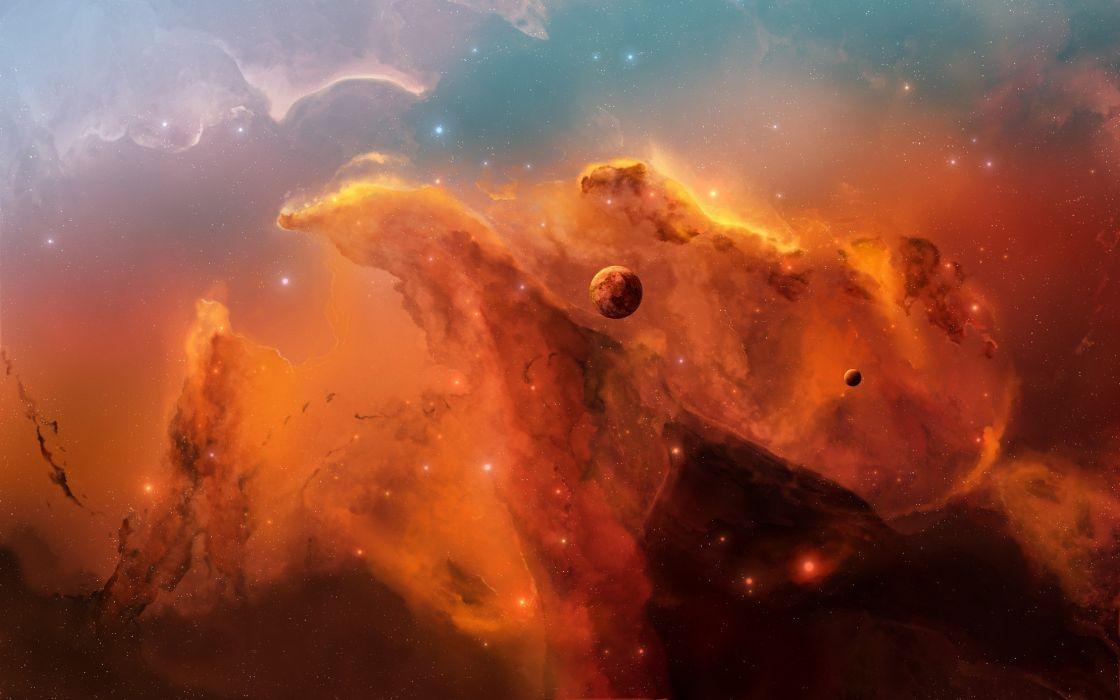 Orange nebula wallpaper