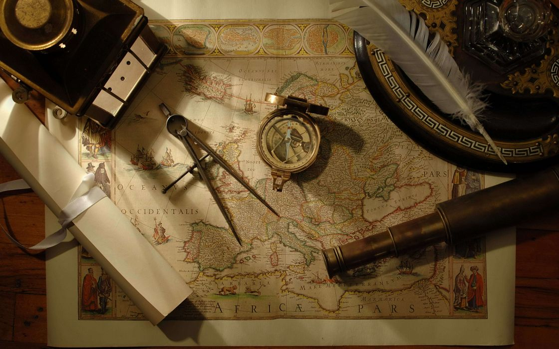 Nautical navigation tools wallpaper