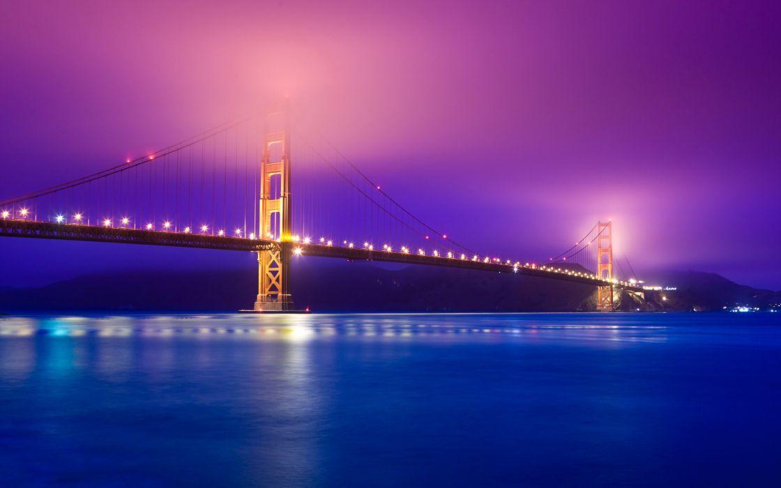 Golden Gate fog wallpaper
