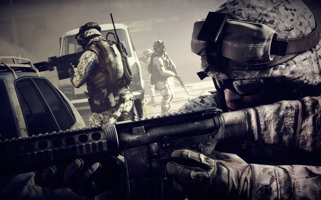 Battlefield 3 soldier foreground wallpaper