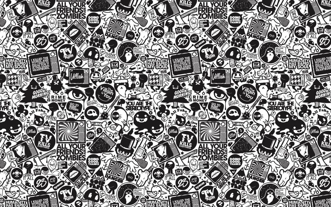 The color of black and white wallpaper