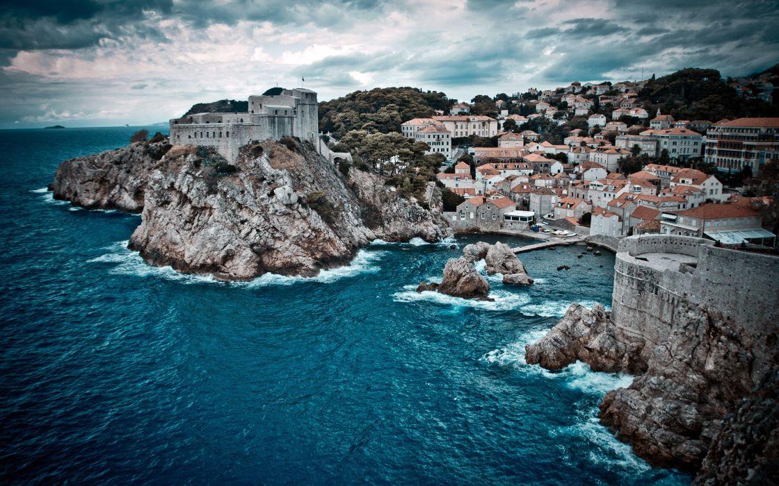 Dubrovnik bay wallpaper