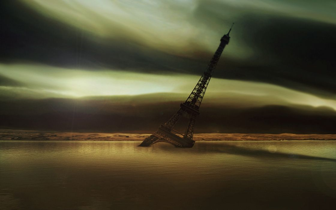 The end of the Eiffel tower wallpaper