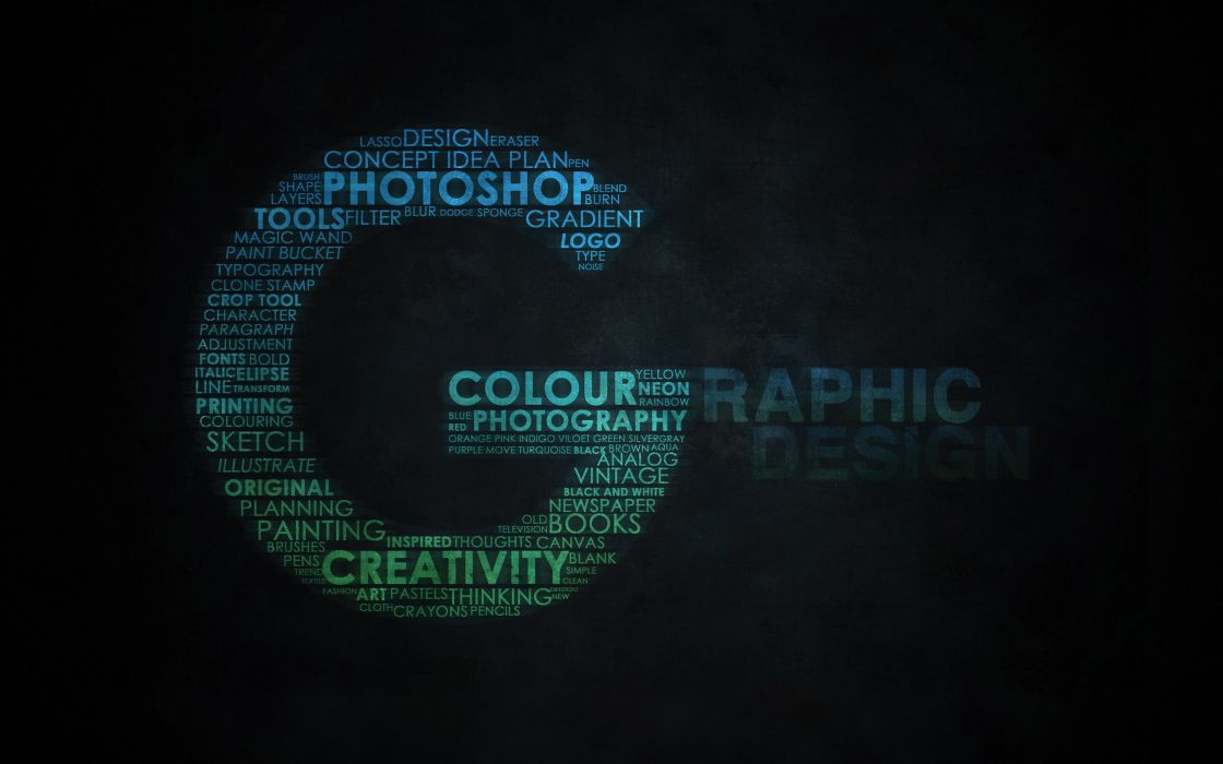 Typography graphic design wallpaper