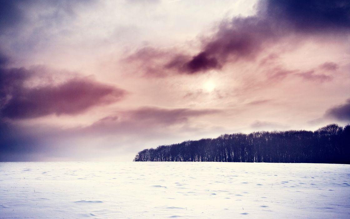 Oceanic winter scenery wallpaper