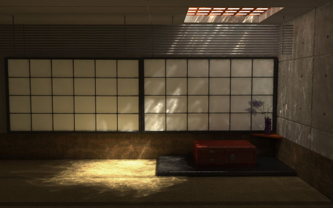 Japanese interior design wallpaper
