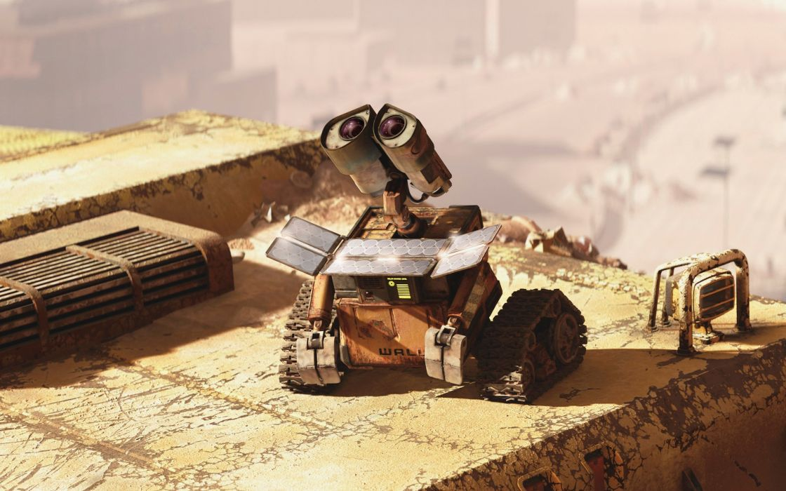 Wall-E grabs some sun wallpaper