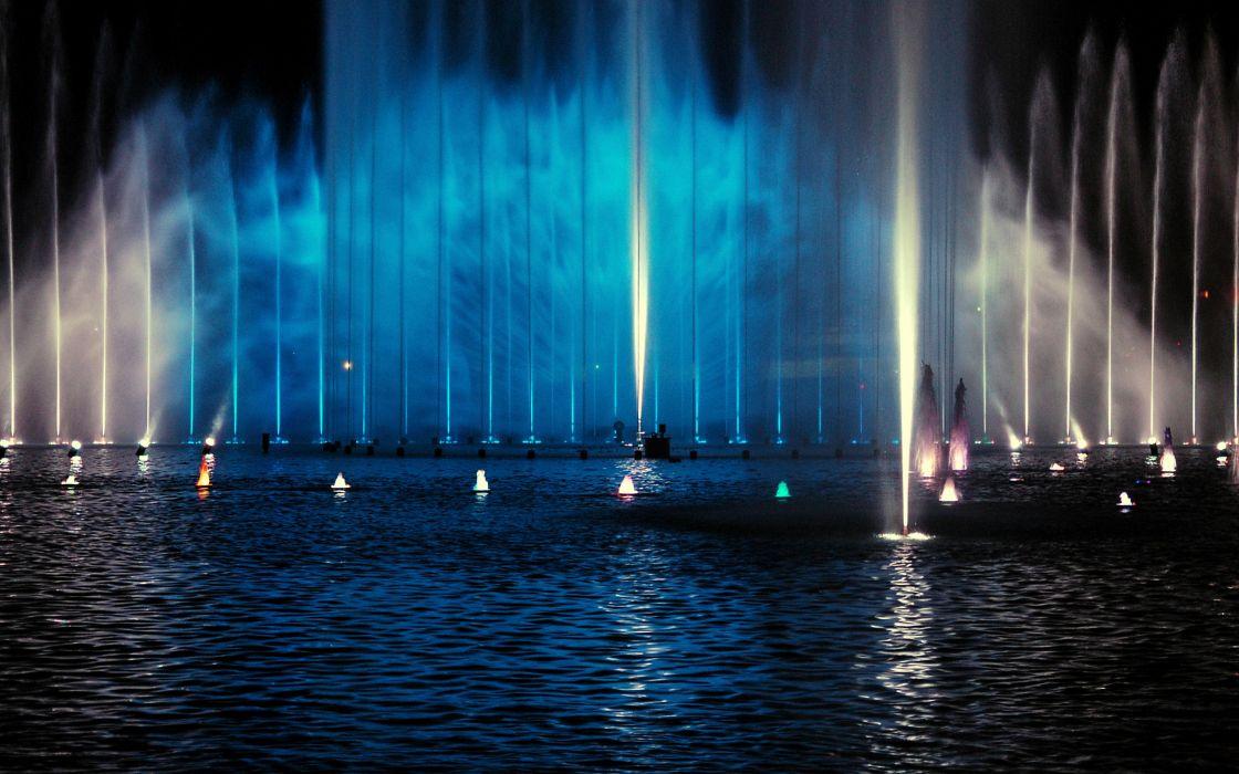 Water fountain wallpaper