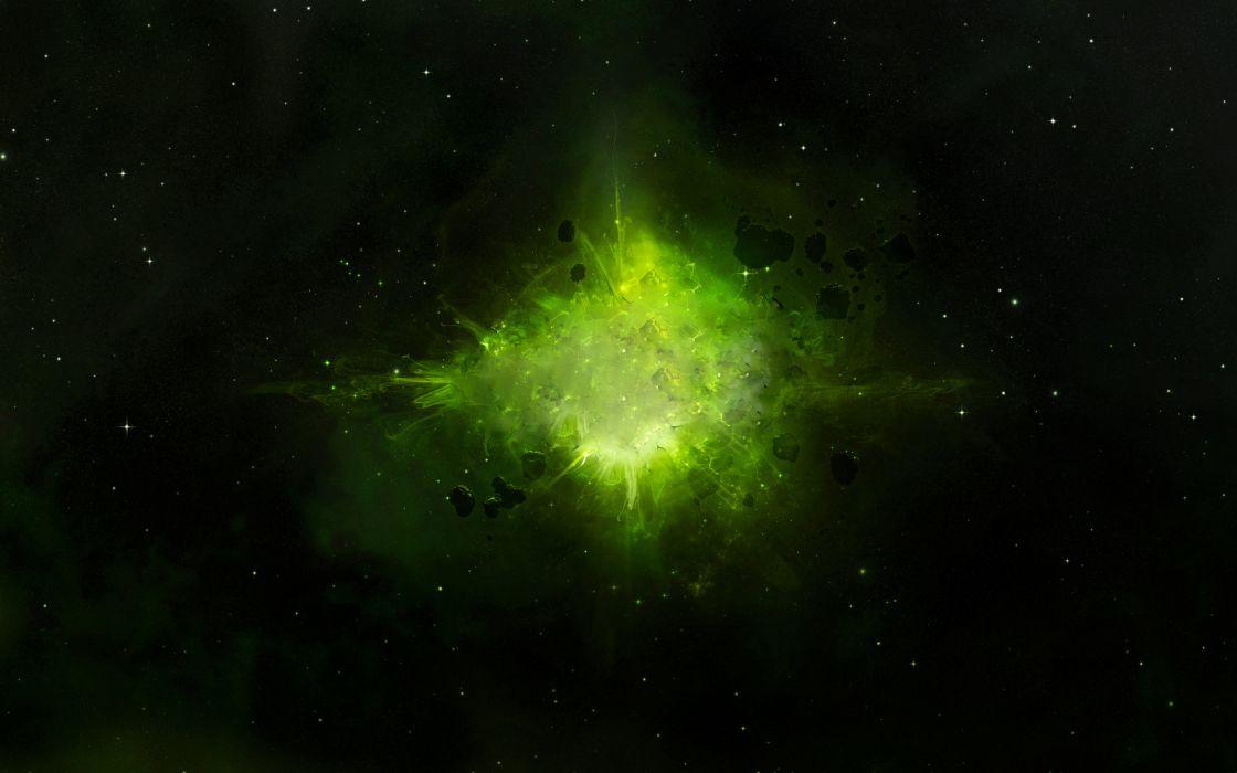 Green explosion wallpaper