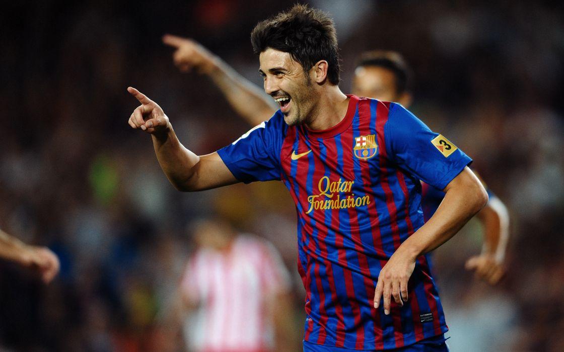 David Villa at Barcelona wallpaper