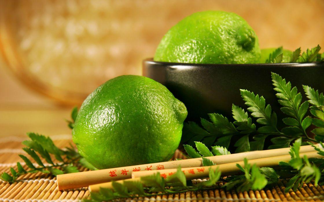 Lime fruit wallpaper