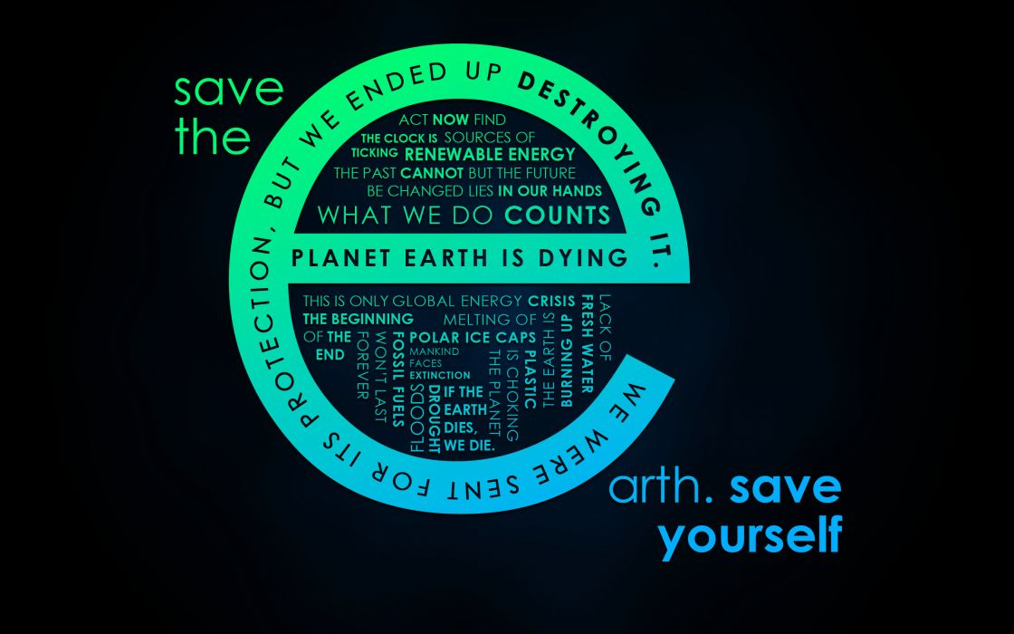 Save the earth wallpaper