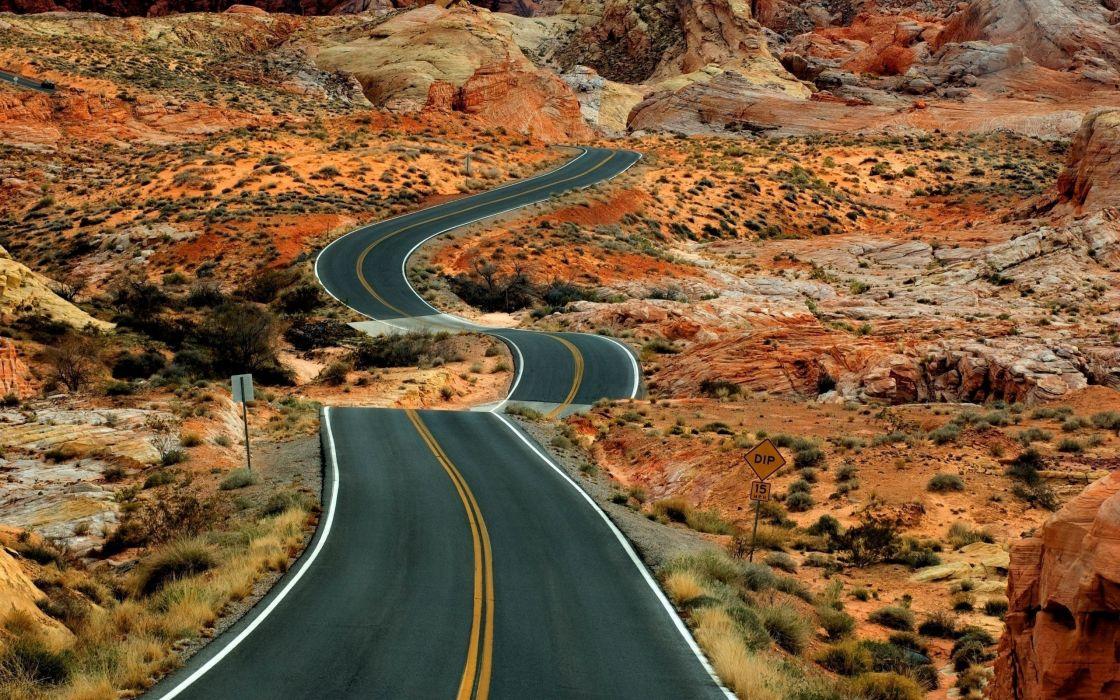 Long road wallpaper