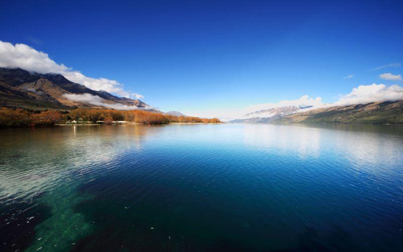 Mountain lake autumn wallpaper