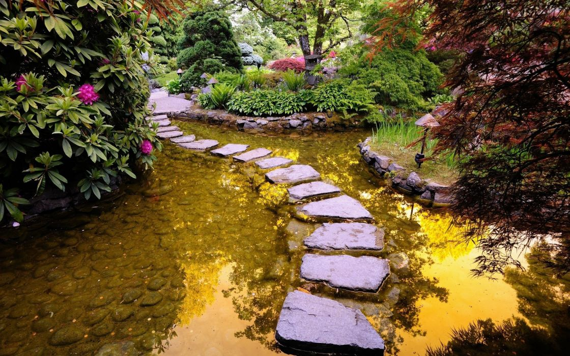Garden path wallpaper