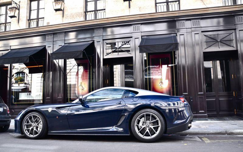 Dark blue Ferrari wallpaper