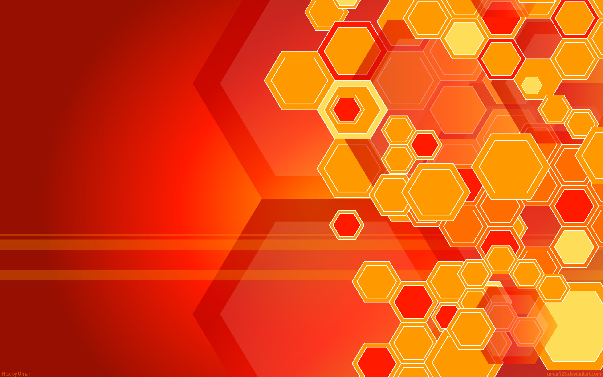 Orange hexagons wallpaper | 2560x1600 | 1541 | WallpaperUP