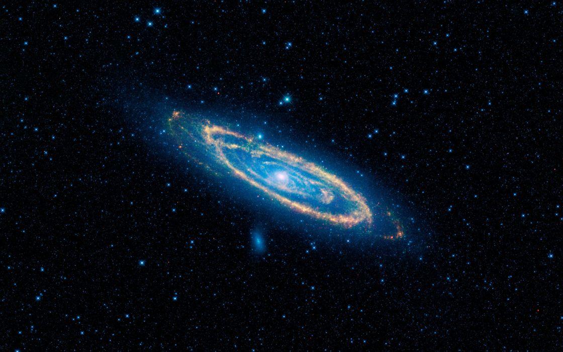 Infrared view of Andromeda galaxy wallpaper