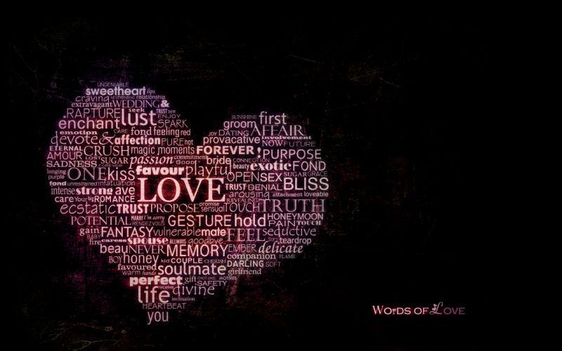 Sweet words of love wallpaper