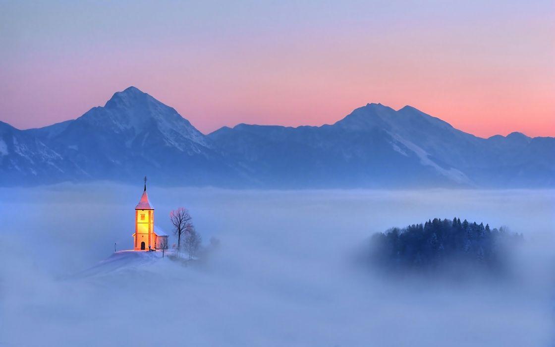 Church in heaven wallpaper