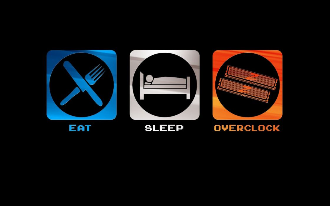 Eat sleep overclock wallpaper