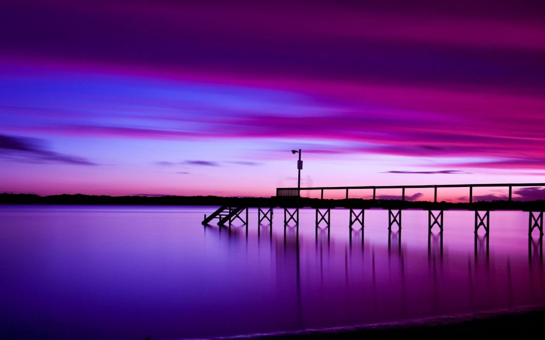 Purple evening effect wallpaper