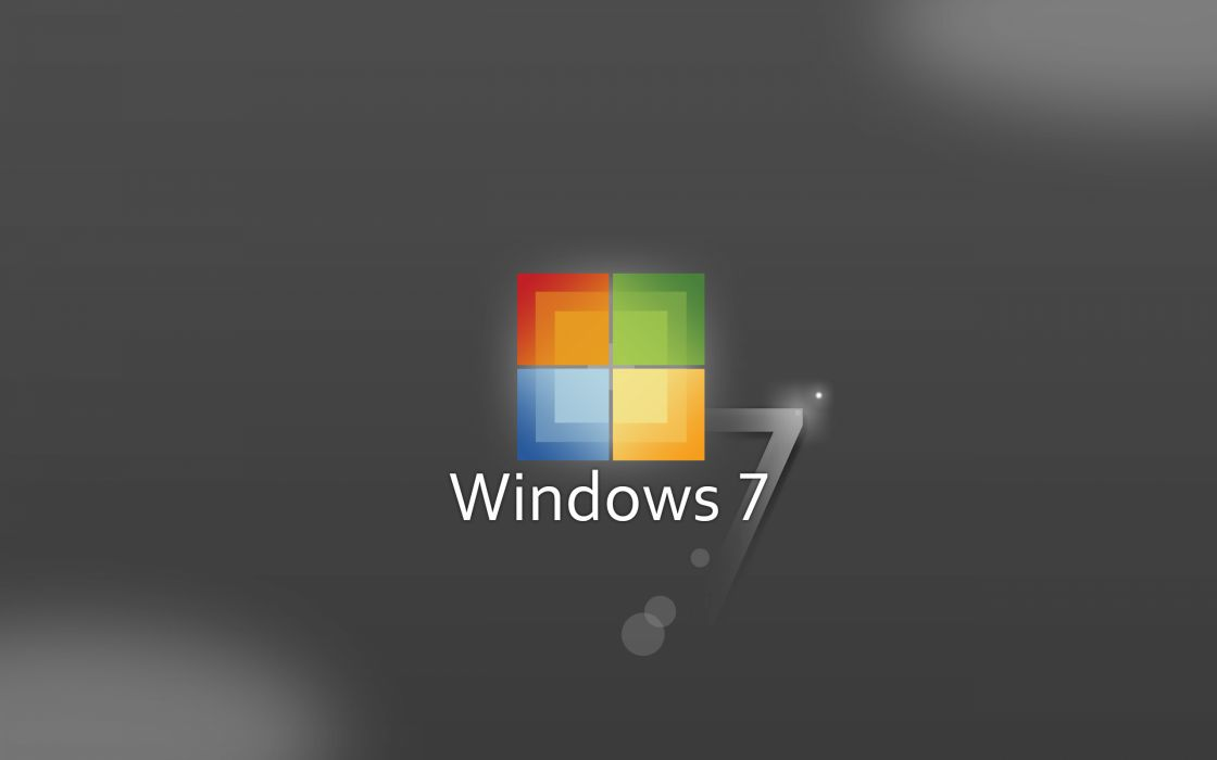 Windows 7 squared logo wallpaper