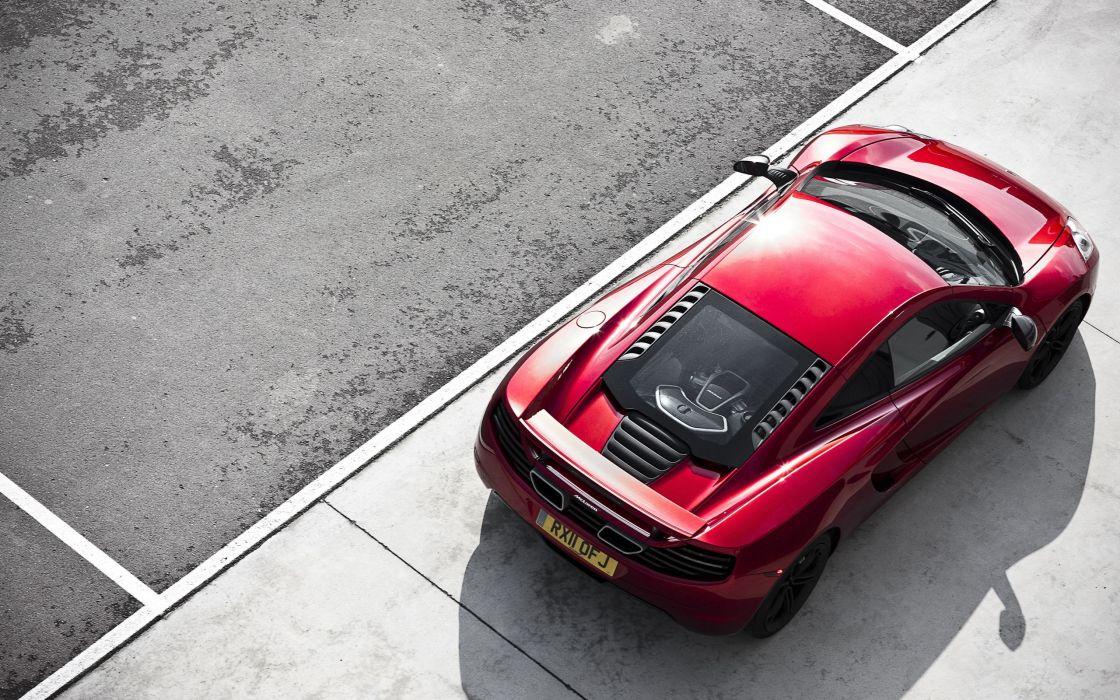 Red hot McLaren MP4-12C wallpaper