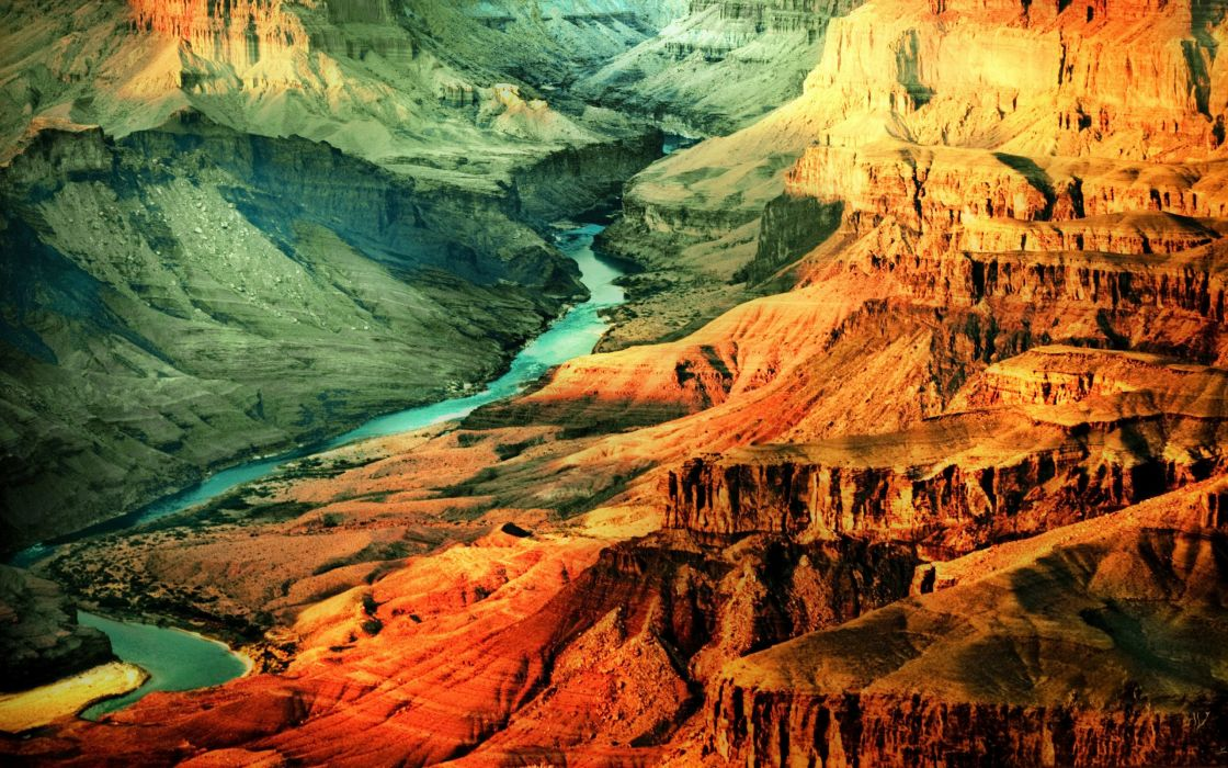 A river in the Grand Canyon wallpaper
