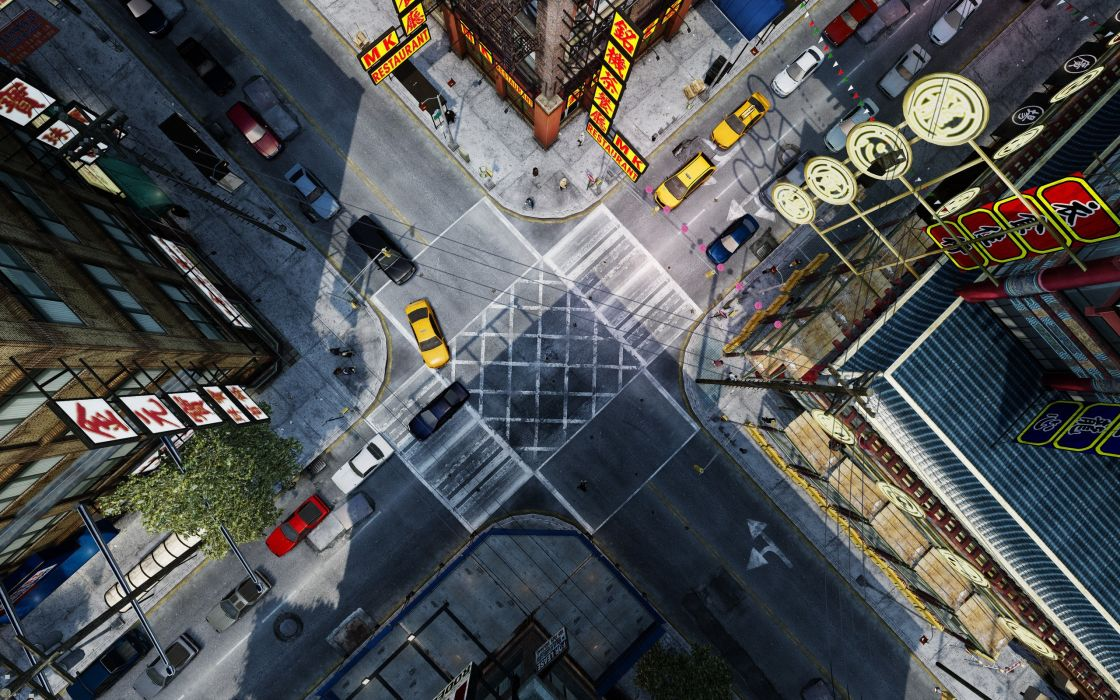 Aereal view of Grand Theft Auto IV wallpaper