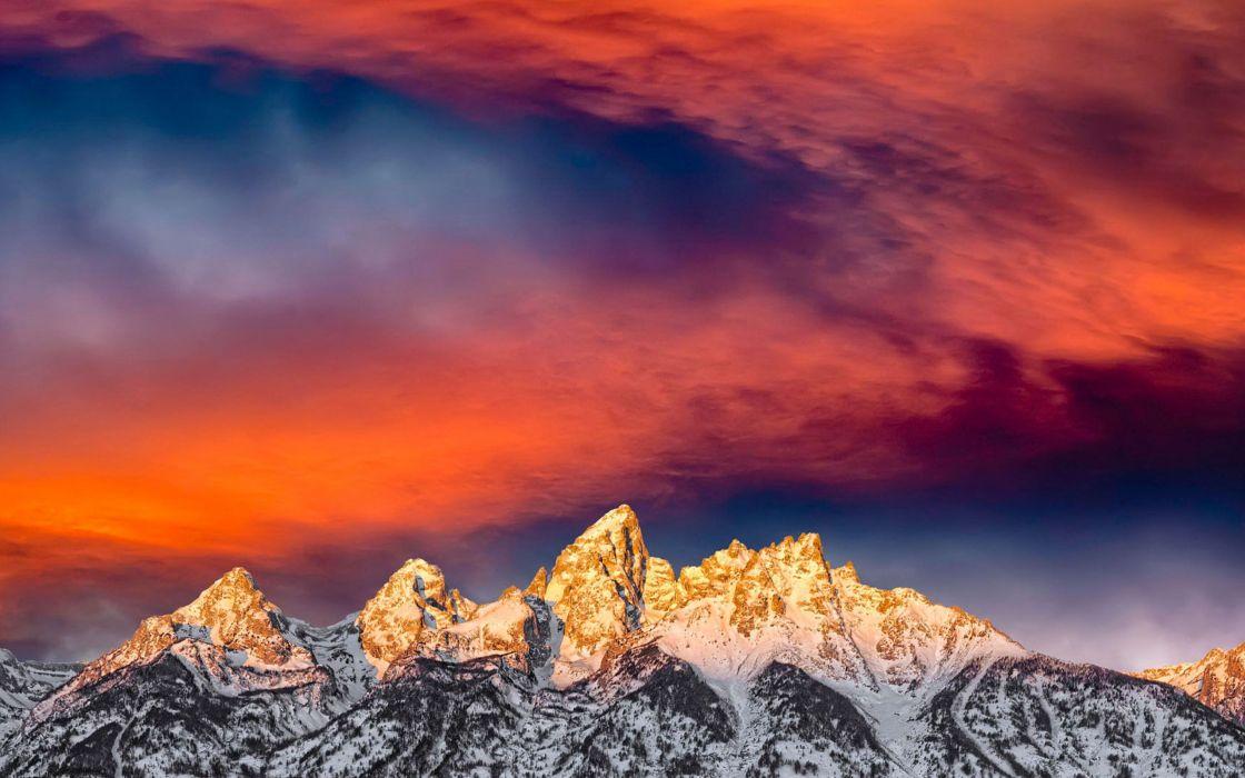 Glorius sunrise at Grand Teton National Park wallpaper
