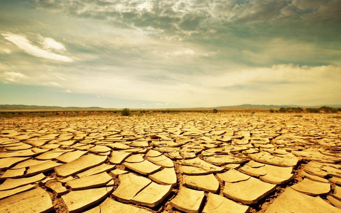 Drought land wallpaper
