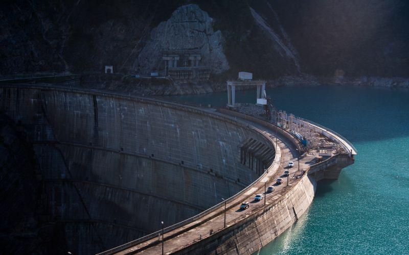 Giant lake dam wallpaper