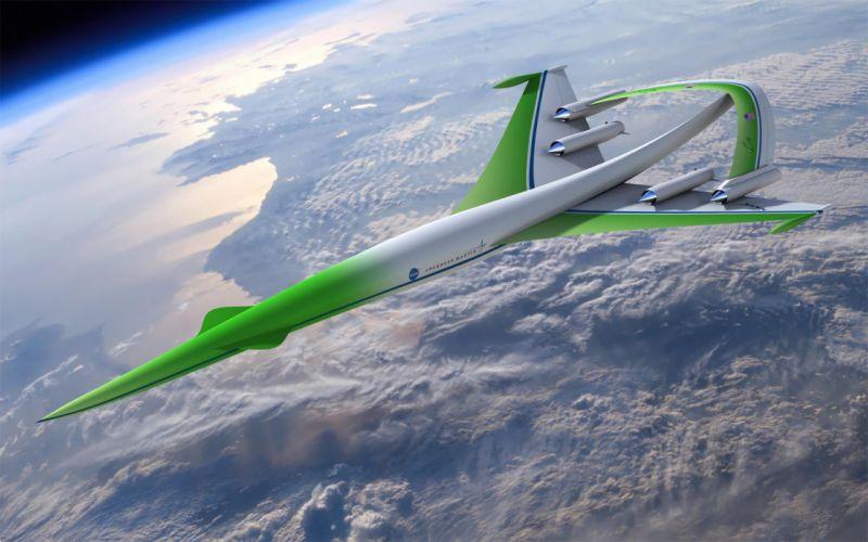 NASA - A supersonic green machine wallpaper