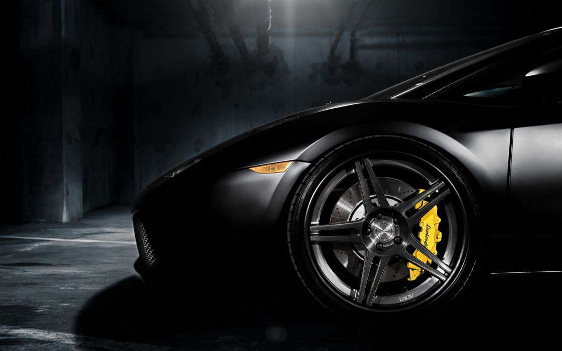 Black Lamborghini Gallardo ADV05 wallpaper