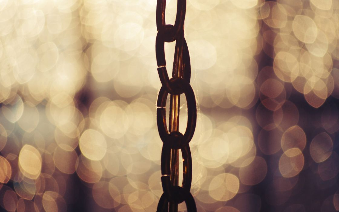 A chain in the bokeh wallpaper