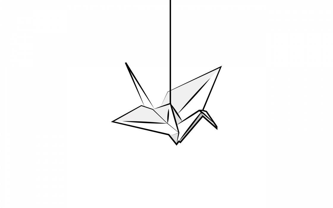 Origami crane wallpaper