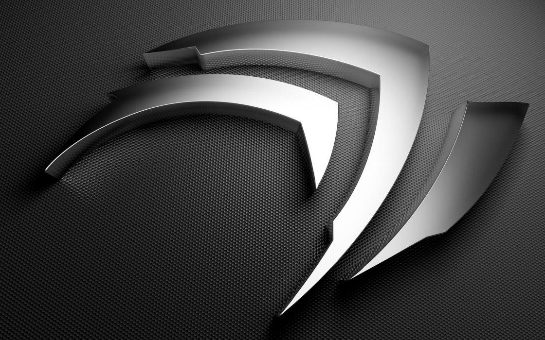 Gray Nvidia logo wallpaper