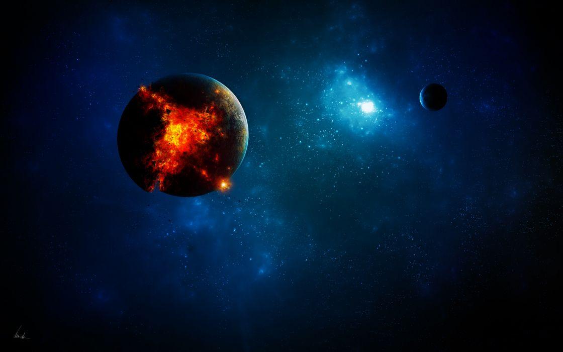 Planet core wallpaper