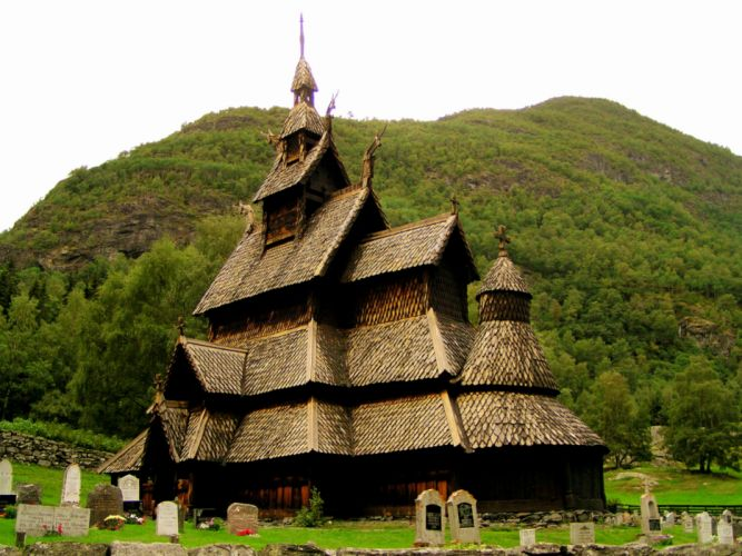 The Borgund Stave Church - Norway wallpaper
