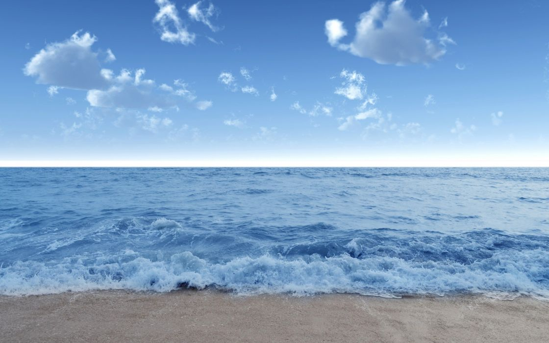 Blue calm beach wallpaper