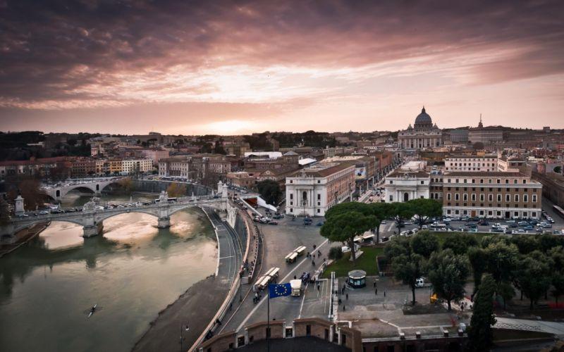 Rome at dusk wallpaper