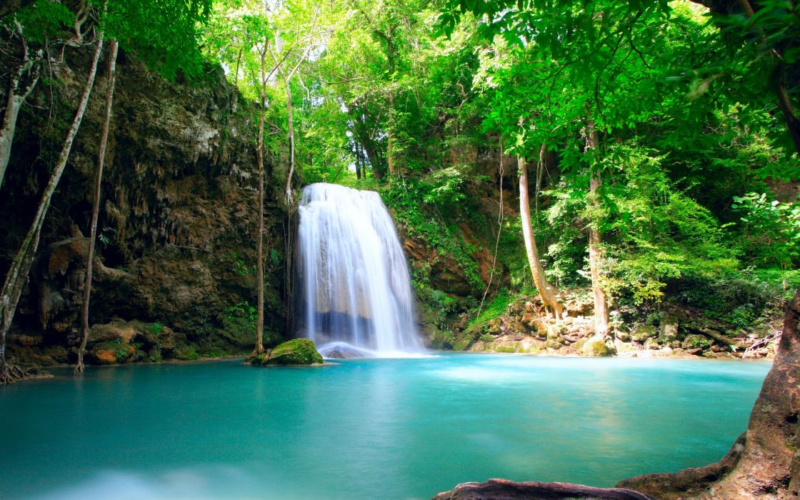 Thailand waterfall wallpaper