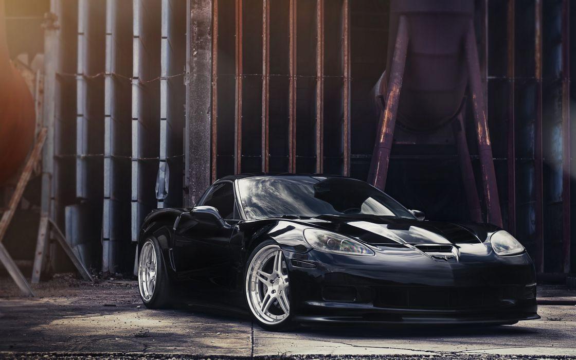 Black Chevrolet Corvette Z06 wallpaper