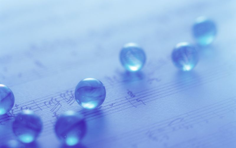 Spheres of music wallpaper
