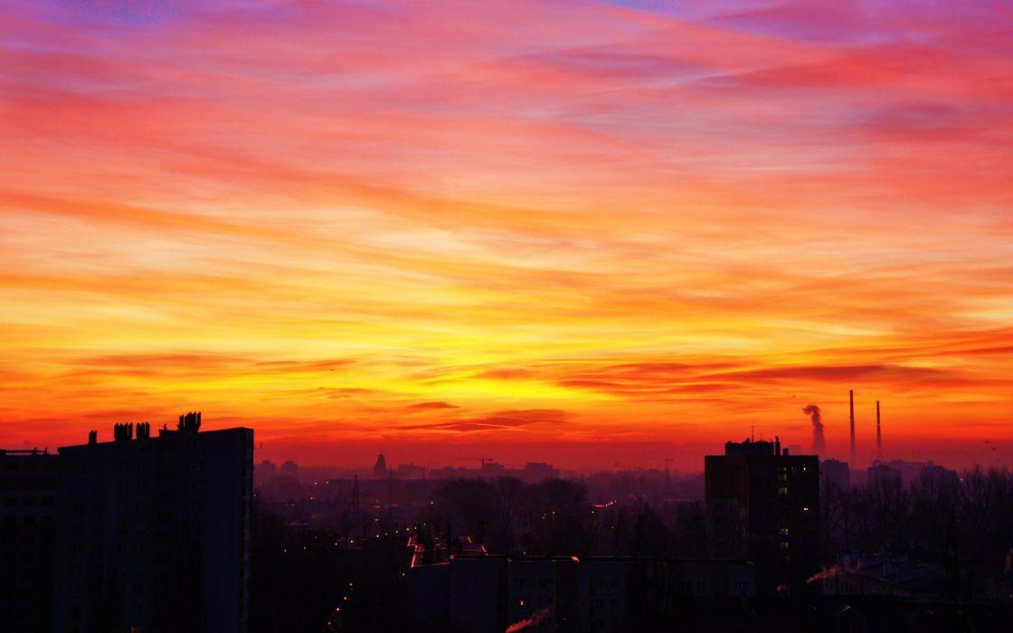 The orange sky wallpaper