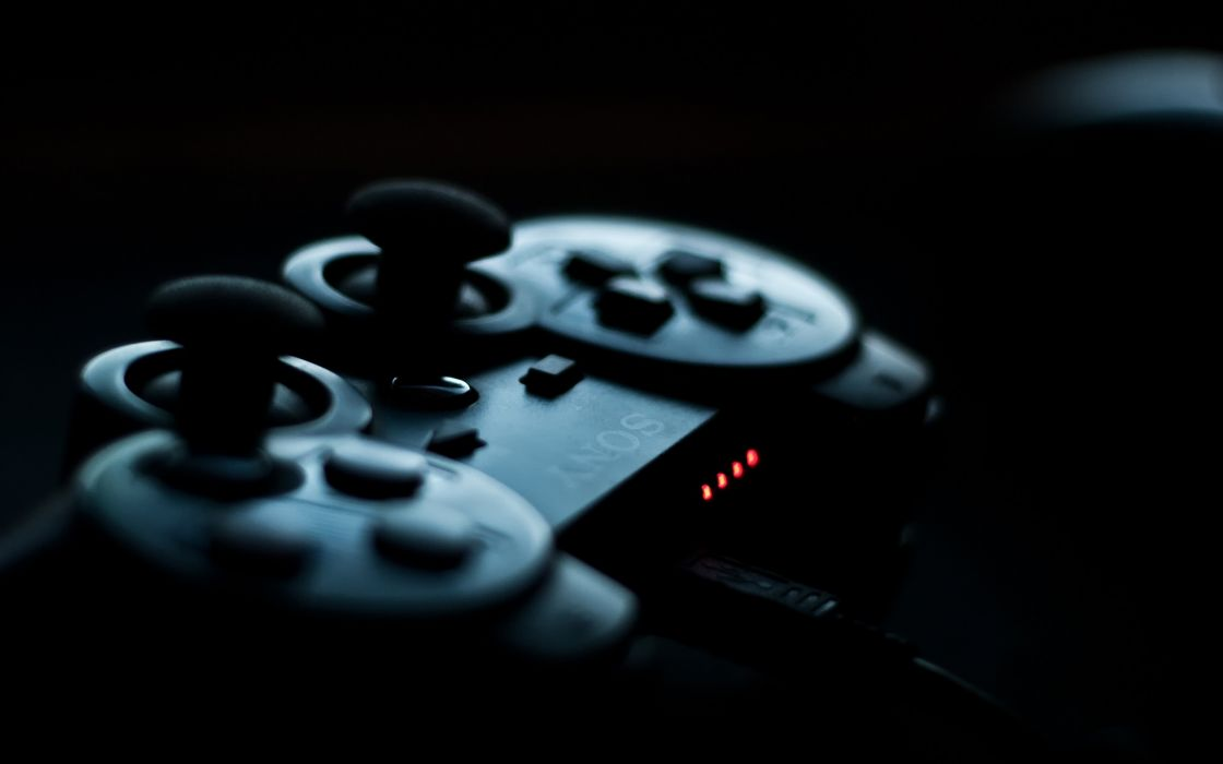 PS3 controller in the shadows wallpaper