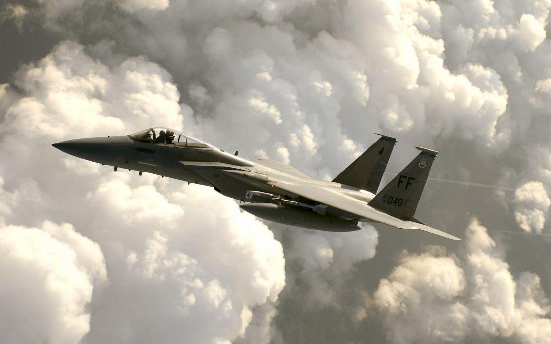 F-15 Eagle war aircraft wallpaper