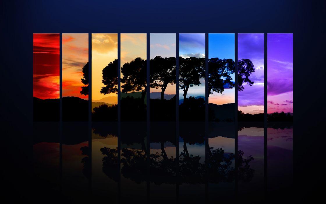 Spectrum of a tree wallpaper